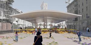 Un'ala di mercato per Piazza Roma
